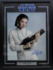 Carrie Fisher Signed Autographed 16x20 Photo Framed Star Wars Psa/dna Z29111
