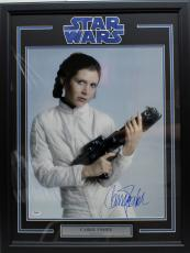 "Carrie Fisher Signed Star Wars ""princess Leia"" 16x20 Photo Framed Psa/dna Z29113"