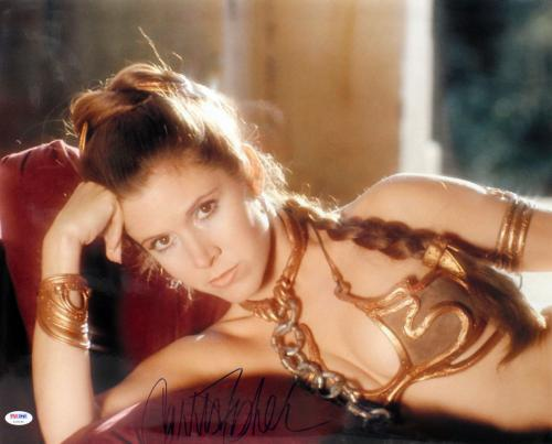 "Carrie Fisher Signed Star Wars ""princess Leia"" 16x20 Photo Psa/dna #z29094"