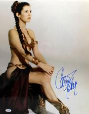 Carrie Fisher Signed Autographed 16x20 Photo Star Wars Leia Psa/dna Z29130