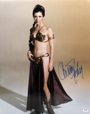 Carrie Fisher Signed Autographed 16x20 Photo Star Wars Leia Psa/dna Z29140