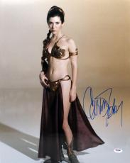 Carrie Fisher Signed Autographed 16x20 Photo Star Wars Leia Psa/dna Z29185