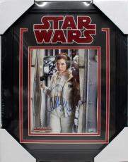 """CARRIE FISHER SIGNED AUTOGRAPH STAR WARS """"LEIA"""" 8x10 PHOTO FRAMED PSA/DNA J88439"""