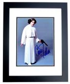 Carrie Fisher Signed - Autographed Star Wars - Princess Leia 8x10 inch Photo BLACK CUSTOM FRAME - Deceased 2016 - Guaranteed to pass PSA or JSA