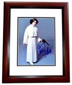 Carrie Fisher Signed - Autographed Star Wars - Princess Leia 8x10 inch Photo MAHOGANY CUSTOM FRAME - Deceased 2016 - Guaranteed to pass PSA or JSA