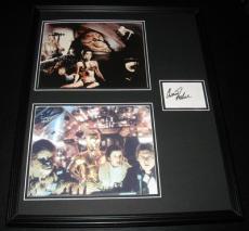 Carrie Fisher Signed Framed 16x20 Photo Set JSA Star Wars Princess Leia