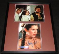 Carrie Fisher Signed Framed 16x20 Photo Set Princess Leia Star Wars AW