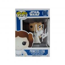 Carrie Fisher Signed Funko Pop! Star Wars #04 Princess Leia Bobblehead Toy