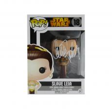 Carrie Fisher Signed Funko Pop! Star Wars #18 Slave Leia Bobblehead Toy