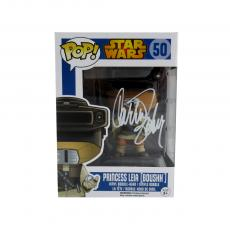 Carrie Fisher Signed Funko Pop! Star Wars #50 Princess Leia (Boushh) Bobblehead Toy