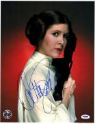 """CARRIE FISHER Signed """"LEIA"""" STAR WARS Official Pix 11x14 Photo PSA/DNA #X82456"""