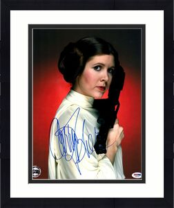 "CARRIE FISHER Signed ""LEIA"" STAR WARS Official Pix 11x14 Photo PSA/DNA #X82457"