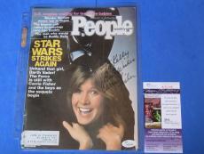 Carrie Fisher Signed People Magazine Cover ~ Star Wars Darth Vader ~ Jsa K20348
