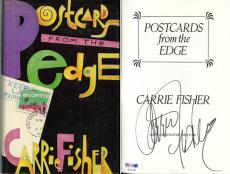Carrie Fisher SIGNED Postcards From The Edge 1st Ed Letter PSA/DNA AUTOGRAPHED