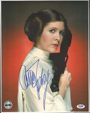 "CARRIE FISHER Signed ""Princess Leia"" STAR WARS 11x14 Photo PSA/DNA #X82467"