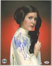 "CARRIE FISHER Signed ""Princess Leia"" STAR WARS 11x14 Photo PSA/DNA #X82468"
