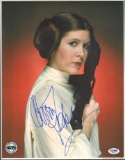 "CARRIE FISHER Signed ""Princess Leia"" STAR WARS 11x14 Photo PSA/DNA #X82470"