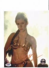CARRIE FISHER Signed PRINCESS LEIA Star Wars 8x10 Photo PSA DNA COA