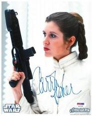Carrie Fisher Signed Star Wars Authentic Autographed 8x10 Photo PSA/DNA #AC17578
