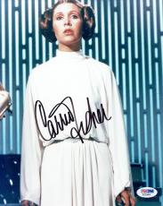 Carrie Fisher Signed Star Wars Authentic Autographed 8x10 Photo PSA/DNA #X22983