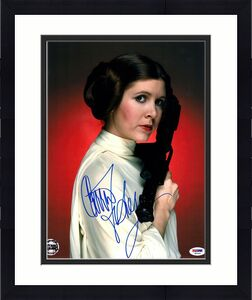 CARRIE FISHER Signed STAR WARS Official Pix 11x14 Photo Graded PSA/DNA 10 X82460