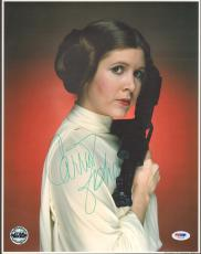 "CARRIE FISHER Signed STAR WARS ""Princess Leia"" 11x14 Photo PSA/DNA #V50153"