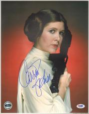 "CARRIE FISHER Signed STAR WARS ""Princess Leia"" 11x14 Photo PSA/DNA #V50154"