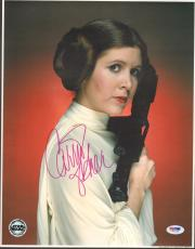 "CARRIE FISHER Signed STAR WARS ""Princess Leia"" 11x14 Photo PSA/DNA #V50155"
