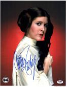 """CARRIE FISHER Signed STAR WARS """"Leia"""" 11x14 Official Pix Photo PSA/DNA #X82465"""