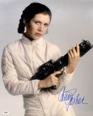 "Carrie Fisher Signed Star Wars ""princess Leia"" 16x20 Photo Psa/dna #z29106"