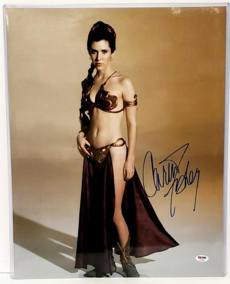 "CARRIE FISHER Signed STAR WARS ""Princess Leia"" 16x20 Photo PSA/DNA #Z29158"