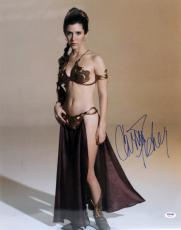 "Carrie Fisher Signed Star Wars ""princess Leia"" 16x20 Photo Psa/dna #z29167"