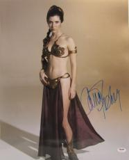 "Carrie Fisher Signed Star Wars ""princess Leia"" 16x20 Photo Psa/dna #z29171"