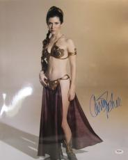 "Carrie Fisher Signed Star Wars ""princess Leia"" 16x20 Photo Psa/dna #z29172"