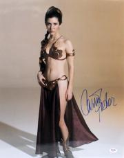 """Carrie Fisher Signed Star Wars """"princess Leia"""" 16x20 Photo Psa/dna #z29173"""
