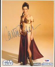 """CARRIE FISHER Signed STAR WARS """"Princess Leia"""" 8x10 Photo PSA/DNA #AB64373"""