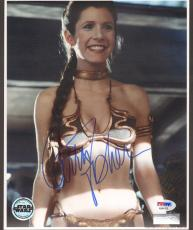 """CARRIE FISHER Signed STAR WARS """"Princess Leia"""" 8x10 Photo PSA/DNA #AB64376"""