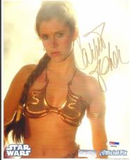 """CARRIE FISHER Signed STAR WARS """"Princess Leia"""" 8x10 Photo PSA/DNA #AB64384"""