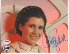 """CARRIE FISHER Signed STAR WARS """"Princess Leia"""" 8x10 Photo PSA/DNA #AB96004"""