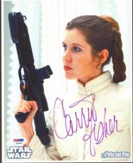 """CARRIE FISHER Signed STAR WARS """"Princess Leia"""" 8x10 Photo PSA/DNA #AB96006"""