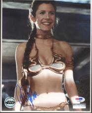 """CARRIE FISHER Signed STAR WARS """"Princess Leia"""" 8x10 Photo PSA/DNA #AC96065"""