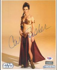 """CARRIE FISHER Signed STAR WARS """"Princess Leia"""" 8x10 Photo PSA/DNA #AC96068"""