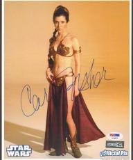 """CARRIE FISHER Signed STAR WARS """"Princess Leia"""" 8x10 Photo PSA/DNA #AC96070"""