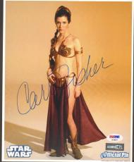 """CARRIE FISHER Signed STAR WARS """"Princess Leia"""" 8x10 Photo PSA/DNA #AC96071"""