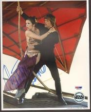 "CARRIE FISHER Signed STAR WARS ""Princess Leia"" 8x10 Photo PSA/DNA #U26669"
