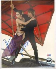 "CARRIE FISHER Signed STAR WARS ""Princess Leia"" 8x10 Photo PSA/DNA #U26670"