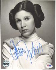 "CARRIE FISHER Signed STAR WARS ""Princess Leia"" 8x10 Photo PSA/DNA #U26674"
