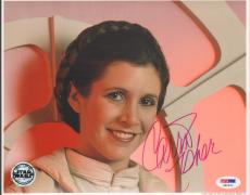 """CARRIE FISHER Signed STAR WARS """"Princess Leia"""" 8x10 Photo PSA/DNA #X80621"""