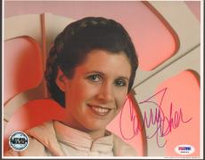 "CARRIE FISHER Signed STAR WARS ""Princess Leia"" 8x10 Photo PSA/DNA #X80623"