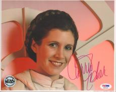 """CARRIE FISHER Signed STAR WARS """"Princess Leia"""" 8x10 Photo PSA/DNA #X80625"""